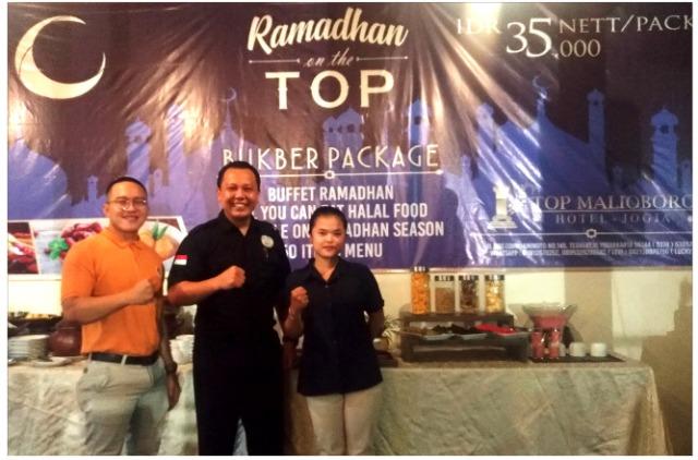 Paket BukBer 35-Ribu Rupiah, All You Can Eat, 50 Items Menu, Di Top Malioboro Hotel Yogyakarta